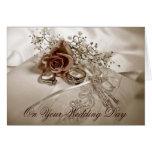 Invitación de boda elegante tarjeta