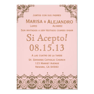 invitacion de boda en espaol wedding invitation