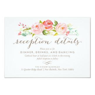 Invitación de boda floral de la recepción de la