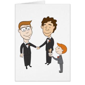 Invitación de boda gay tarjeta