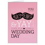 Invitación de boda linda del bigote del amor de la tarjetón