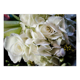 Invitación de boda nupcial del ramo felicitación