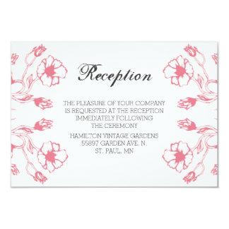 Invitación de boda rosada del jardín de Reciption