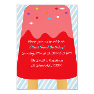 Invitación de Candyland del Popsicle