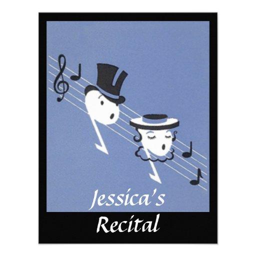 INVITACIÓN de Caroling del coro de las notas music