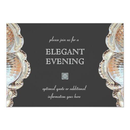 Invitación de cena formal invitación 12,7 x 17,8 cm