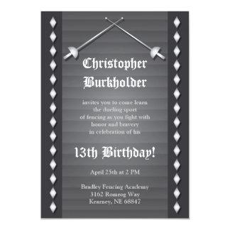 Invitación de cercado gris de la fiesta de