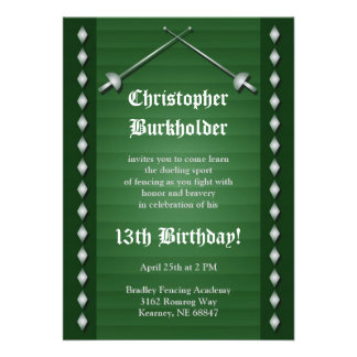 Invitación de cercado verde de la fiesta de cumple