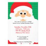 invitación de Chirstmas de la barba de 5x7 Santas