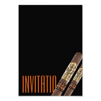 Invitación de Cigaro Invitación 8,9 X 12,7 Cm