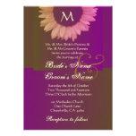 Invitación de color caqui púrpura del boda del gir