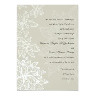Invitación de color topo contorneada del boda de