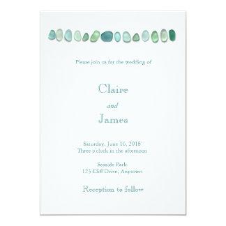 Invitación de cristal del boda del mar de la