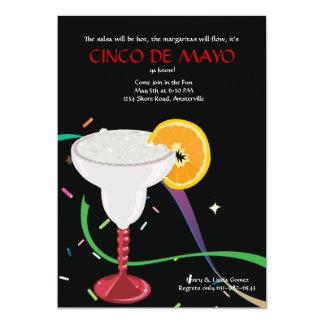 Invitación de cristal del fiesta de Margarita Invitación 12,7 X 17,8 Cm