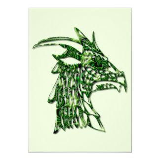 Invitación de cuernos del dragón invitación 12,7 x 17,8 cm
