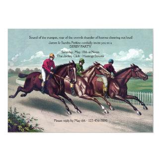 Invitación de Derby de la carrera disputada