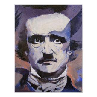 Invitación de Edgar Allan Poe Invitación 10,8 X 13,9 Cm