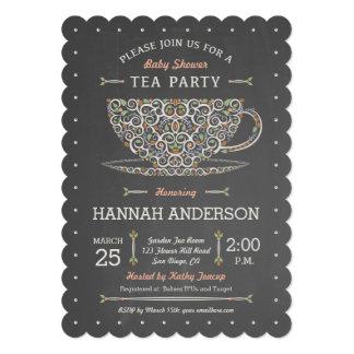 Invitación de encaje de la fiesta de bienvenida al invitación 12,7 x 17,8 cm