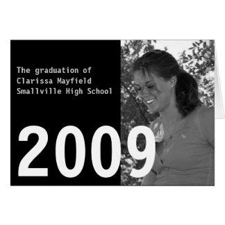 Invitación de encargo 2009 de la graduación tarjeta de felicitación