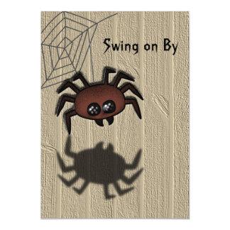 Invitación de encargo de Halloween de la araña de Invitación 12,7 X 17,8 Cm