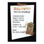 Invitación de encargo de Halloween de la piedra Invitación 12,7 X 17,8 Cm