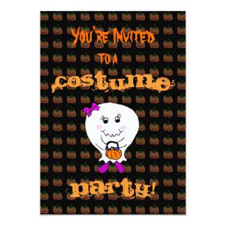 Invitación de encargo de Halloween del fantasma