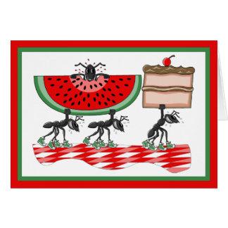 Invitación de encargo de la barbacoa de la hormiga tarjeta de felicitación