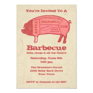 Invitación de encargo de la barbacoa de Porkaholic