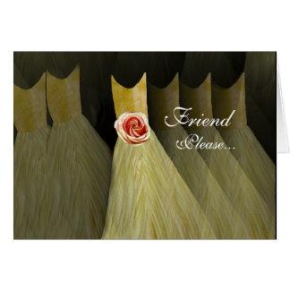 Invitación de encargo de la dama de honor - vestid tarjeta