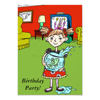 Invitación de encargo de la fiesta de cumpleaños
