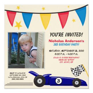 Invitación de encargo de la fiesta de cumpleaños invitación 13,3 cm x 13,3cm
