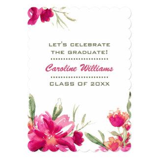 Invitación de encargo de la fiesta de graduación