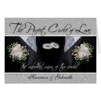 Invitación de encargo de la foto del boda gay/de tarjeta de felicitación
