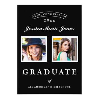 Invitación de encargo de la graduación de la foto