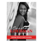 Invitación de encargo de la graduación de la foto  tarjeta postal