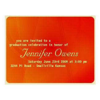 Invitación de encargo de la graduación: postal