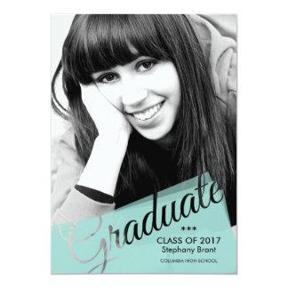 Invitación de encargo de la tarjeta de la foto del invitación 12,7 x 17,8 cm