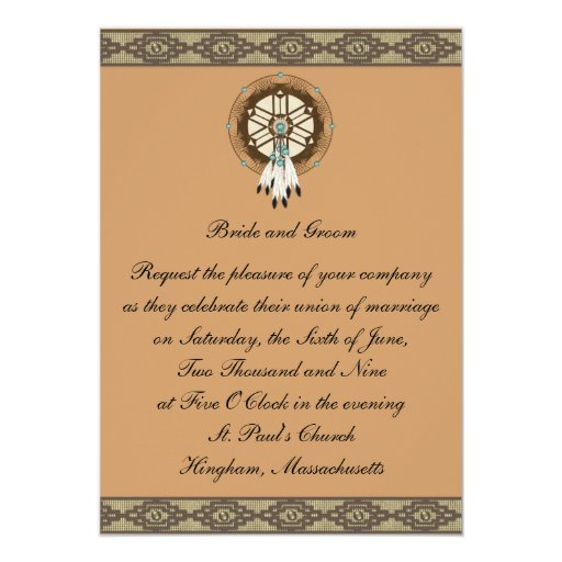 Invitación de encargo del boda de Dreamcatcher de