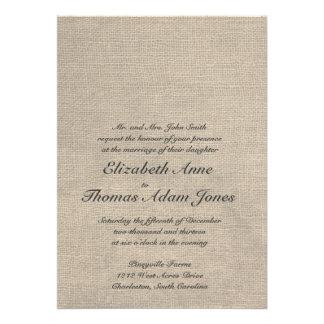 Invitación de encargo del boda de la arpillera