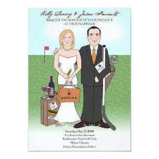 Invitación de encargo del boda de la caricatura