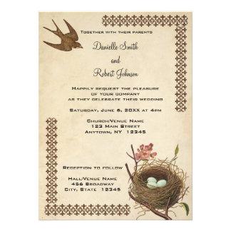 Invitación de encargo del boda de la jerarquía de