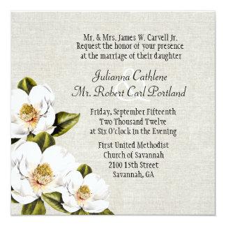 Invitación de encargo del boda de las magnolias