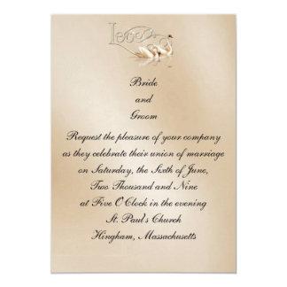 Invitación de encargo del boda de los cisnes del