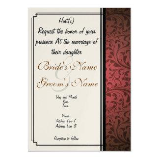 Invitación de encargo del boda del anfitrión del