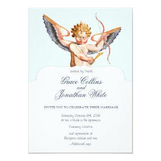 Invitación de encargo del boda del Cupid barroco