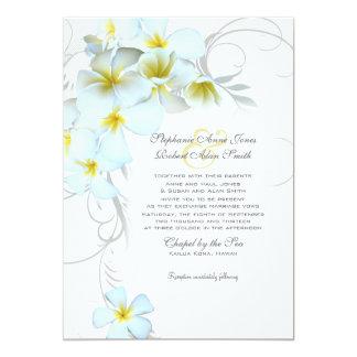 Invitación de encargo del boda del Flourish del