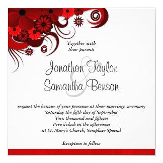 Invitación de encargo del boda del hibisco floral