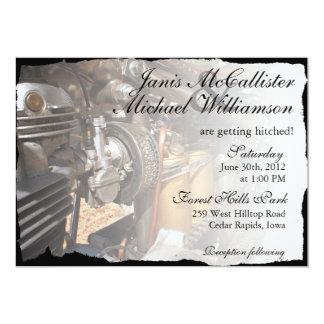 Invitación de encargo del boda del motorista de la
