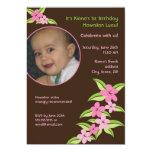 Invitación de encargo del cumpleaños de la foto invitación 12,7 x 17,8 cm