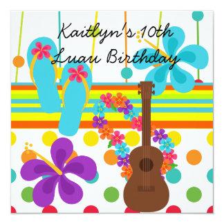 Invitación de encargo del cumpleaños de Luau